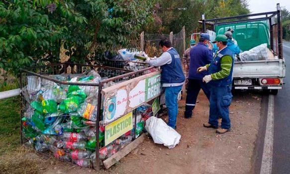 Palmilla: Con éxito concluye plan de retiro de residuos en la totalidad de puntos de reciclaje de la comuna