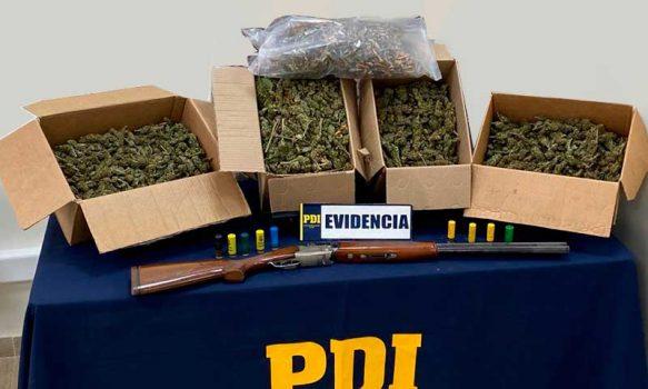 PDI detuvo a sujeto sorprendido con más de seis kilos de marihuana en San Vicente