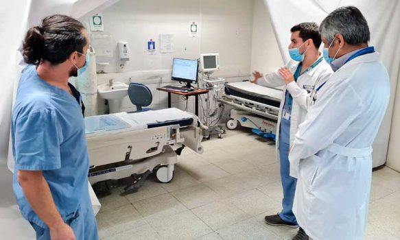 Verifican en terreno trabajo de hospitales de Carretera de la Fruta en pandemia