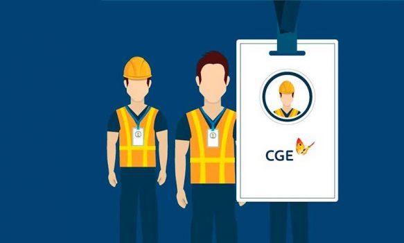 CGE reitera protocolo de identificación de contratistas y personal de terreno