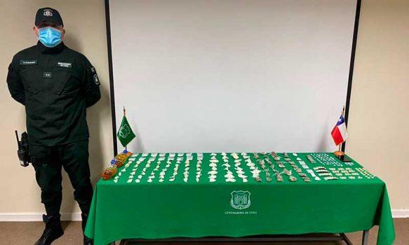 Funcionarios de Gendarmería logran incautar cerca de 10 paquetes lanzados desde el exterior