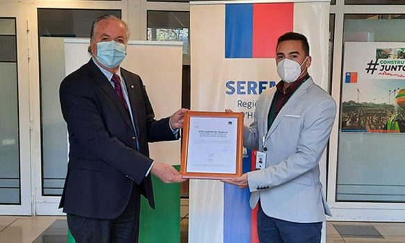 MOP O'Higgins recibe Sello COVID-19 AChS por eficiente gestión preventiva de funcionarios durante pandemia