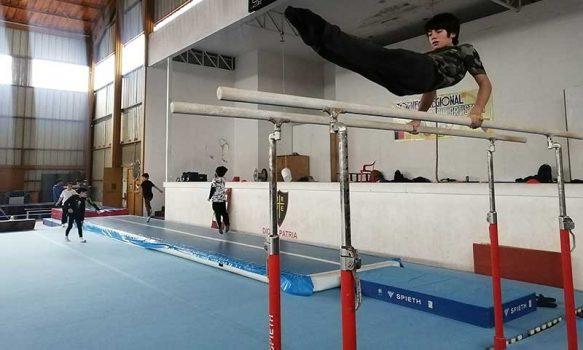 Nuevo trampolín de piso para la gimnasia artística regional