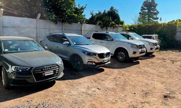 PDI recupera cuatro vehículos que mantenían encargo por robo