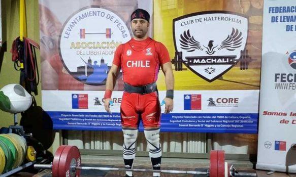 Pesista rancagüino clasifica a los juegos olímpicos máster de halterofilia
