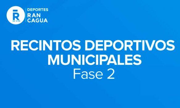Recintos deportivos municipales de Rancagua amplían horario de funcionamiento en fase 2