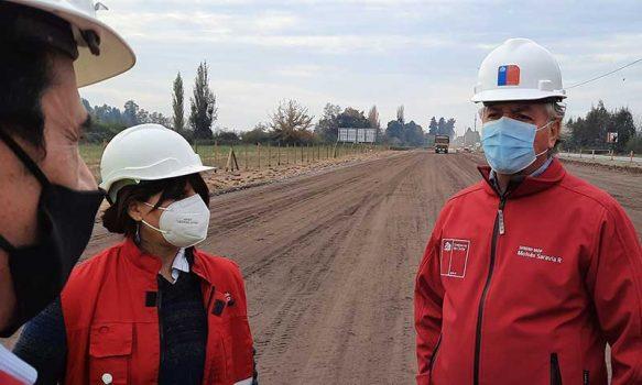 Seremi del MOP inspecciona inicio de obras de Ampliación doble vía Ruta 90 sector Manantiales-Placilla
