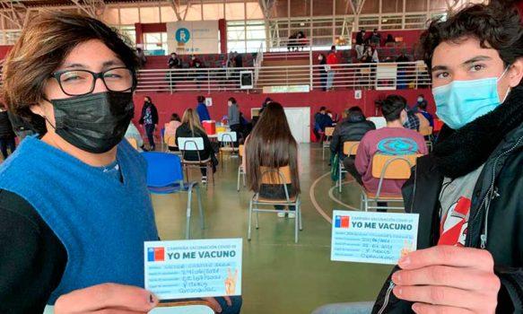 Adolescentes y jóvenes de la región de O´Higgins motivados con vacunación COVID-19