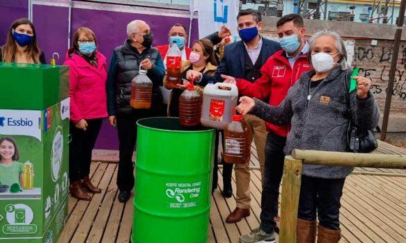 """Campaña """"Toma la Sartén por el Mango"""": Inauguran nuevo punto de reciclaje de aceite vegetal en Graneros"""