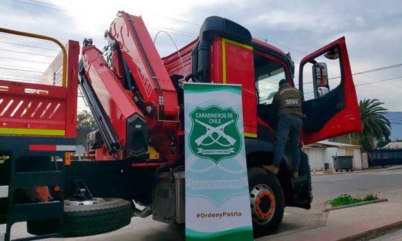 Carabineros de Mostazal recuperaron camión robado, avaluado en 170 millones de pesos