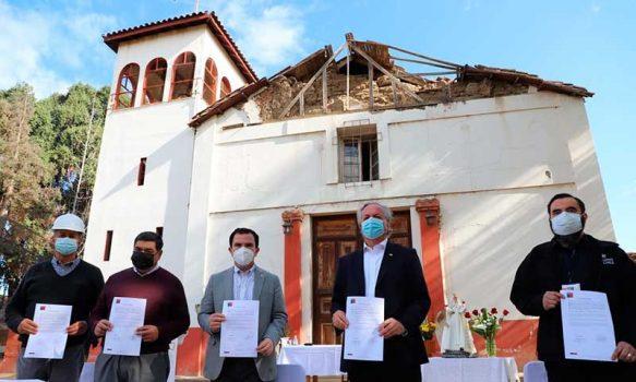 Comienzan los trabajos de restauración de la Iglesia Nuestra Señora de La Merced de Codegua