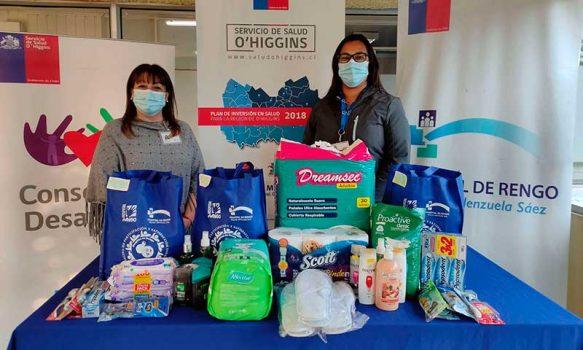 Consejo de Desarrollo del Hospital de Rengo realiza campaña solidaria en ayuda a pacientes hospitalizados