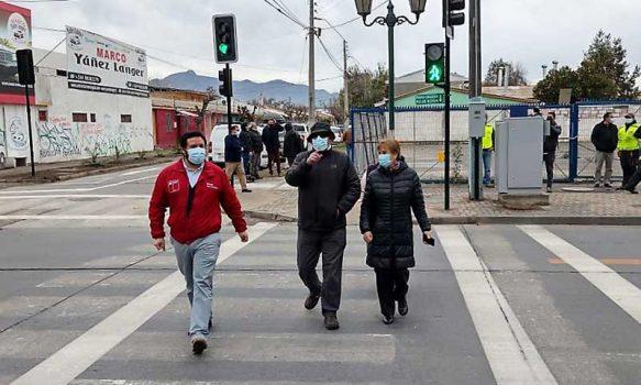 MTT O'Higgins pone en funcionamiento cruces semaforizados en sector rural y urbano de Rancagua