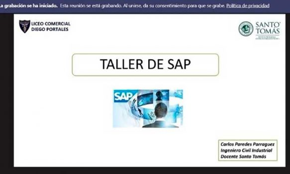 Santo Tomás capacita en software SAP a estudiantes del Liceo Comercial Diego Portales
