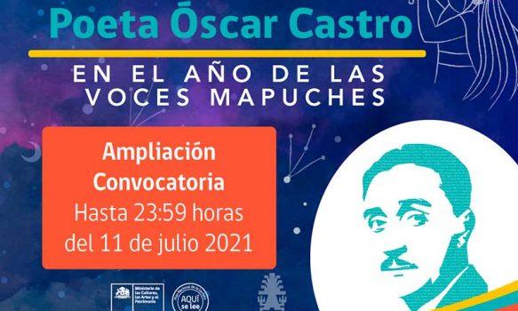 Se amplió el plazo de postulación al Concurso de Cuento Breve Poeta Óscar Castro