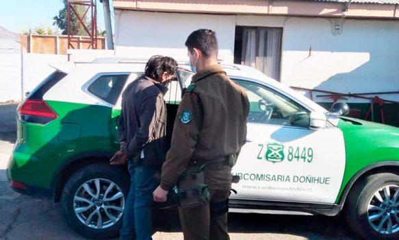 Carabineros detuvieron en tiempo récord a sujeto que entró a robar en Cesfam de Doñihue