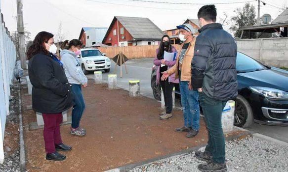 Familias del Barrio Loreto de Coltauco recorren Obra de Confianza que busca solucionar problemas de anegamiento