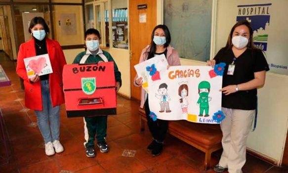 Hermoso gesto del Colegio Olegario Lazo Baeza con el personal de salud