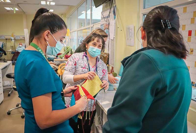 Hospital Regional impulsa donación de lanas para pacientes oncológicos y recién nacidos