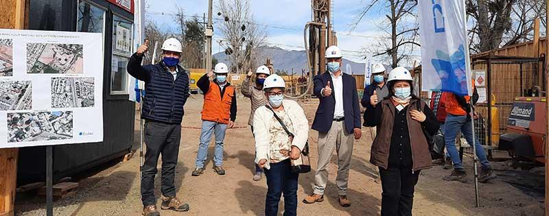 Seremi del MOP y gerente Essbio visitan obras de construcción de pozos para garantizar disponibilidad de agua en zonas urbanas