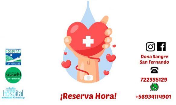 UMT San Fernando realizará colectas de sangre en el Hospital de Chimbarongo