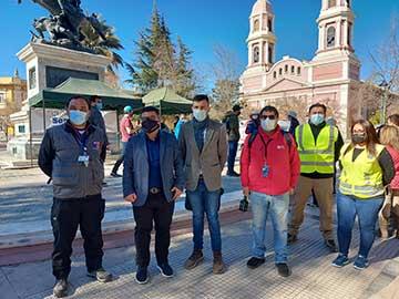 Alcalde de Rancagua y seremi de Salud realizan llamado a acudir a operativos PCR