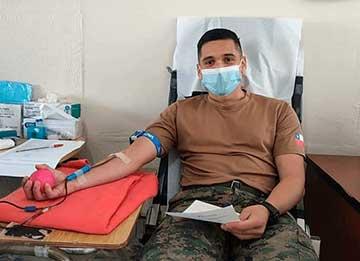Brigada de Aviación del Ejército dona sangre al Hospital de Rengo