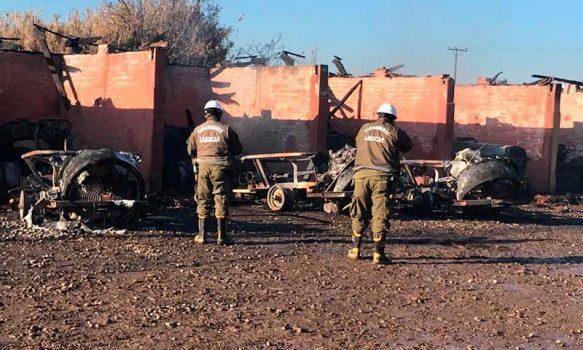 Carabineros trabaja para esclarecer incendio en Graneros