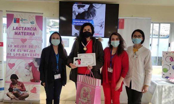 Hospital de Rengo premia a mamás que fomentan la lactancia materna