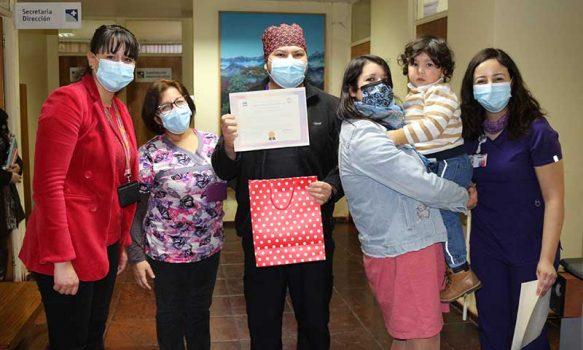 """Hospital San Fernando realizó entrega de reconocimientos por Concurso """"Mascarilla de la Lactancia"""""""