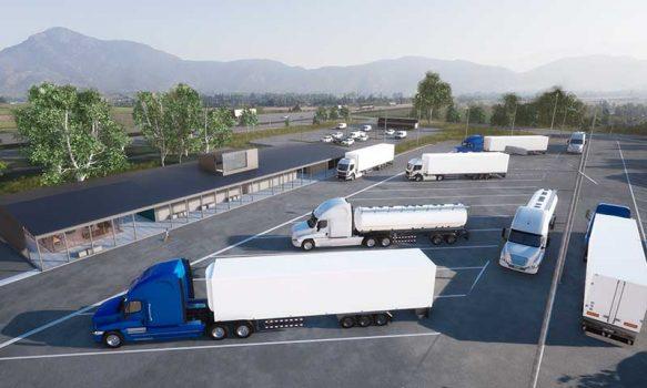 MOP O'Higgins y dirigentes CNTC inspeccionan avance ampliación área de estacionamiento camiones sector Los Lagartos Ruta 5