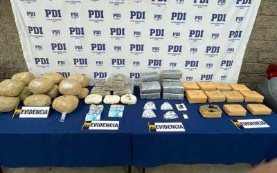 PDI desbarató banda criminal dedicada a traer droga desde el norte