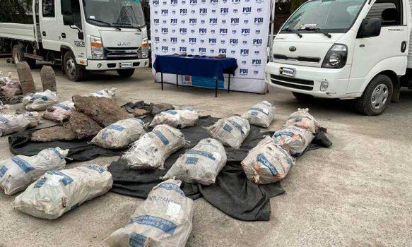 PDI incautó cuatro toneladas de cobre que habría sido robado a Codelco