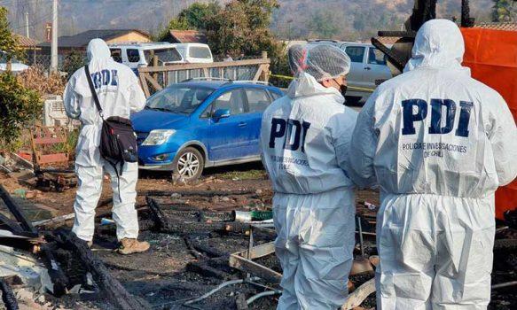 PDI investiga muerte de hombre en incendio ocurrido en Doñihue