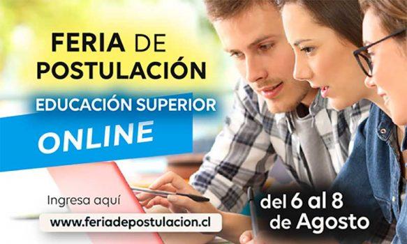 Tradicional feria de postulación de educación superior se realizará en formato online del 6 al 8 de agosto