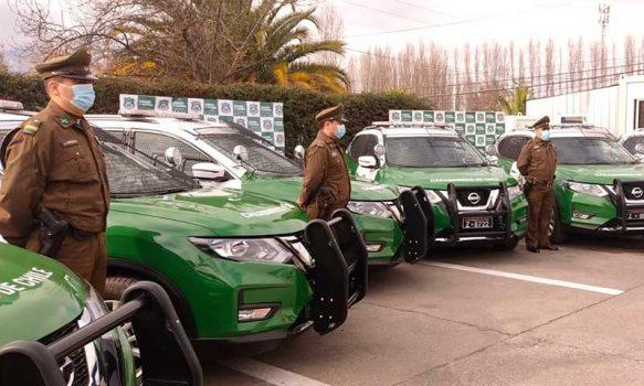Carabineros de O'Higgins suman 6 vehículos policiales para el resguardo de la región