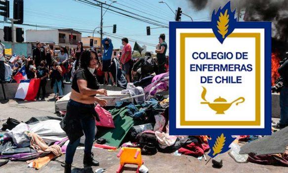 Colegio de Enfermeras: Declaración crisis migratoria
