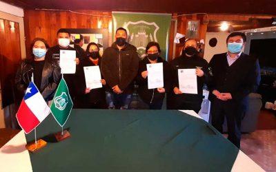 Con la presencia del primer penado Gendarmería firmó convenio para la PSBC con la Junta de Vecinos Renacer La Morera
