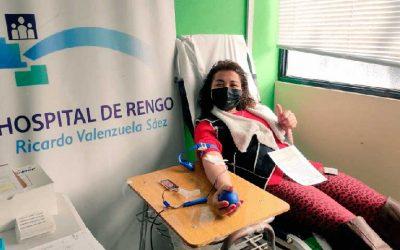 Hospital de Rengo realiza colecta móvil de sangre en Hospital de San Vicente