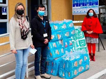Más de mil pañales fueron distribuidos en recintos de salud  de la región