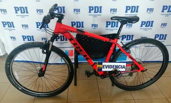 PDI recuperó bicicleta robada desde el frontis de la Municipalidad de Rancagua