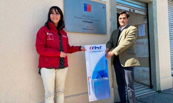 Seremi del trabajo en conjunto con la cchc de Rancagua instalan buzones para depositar currículos de trabajadores de la construcción