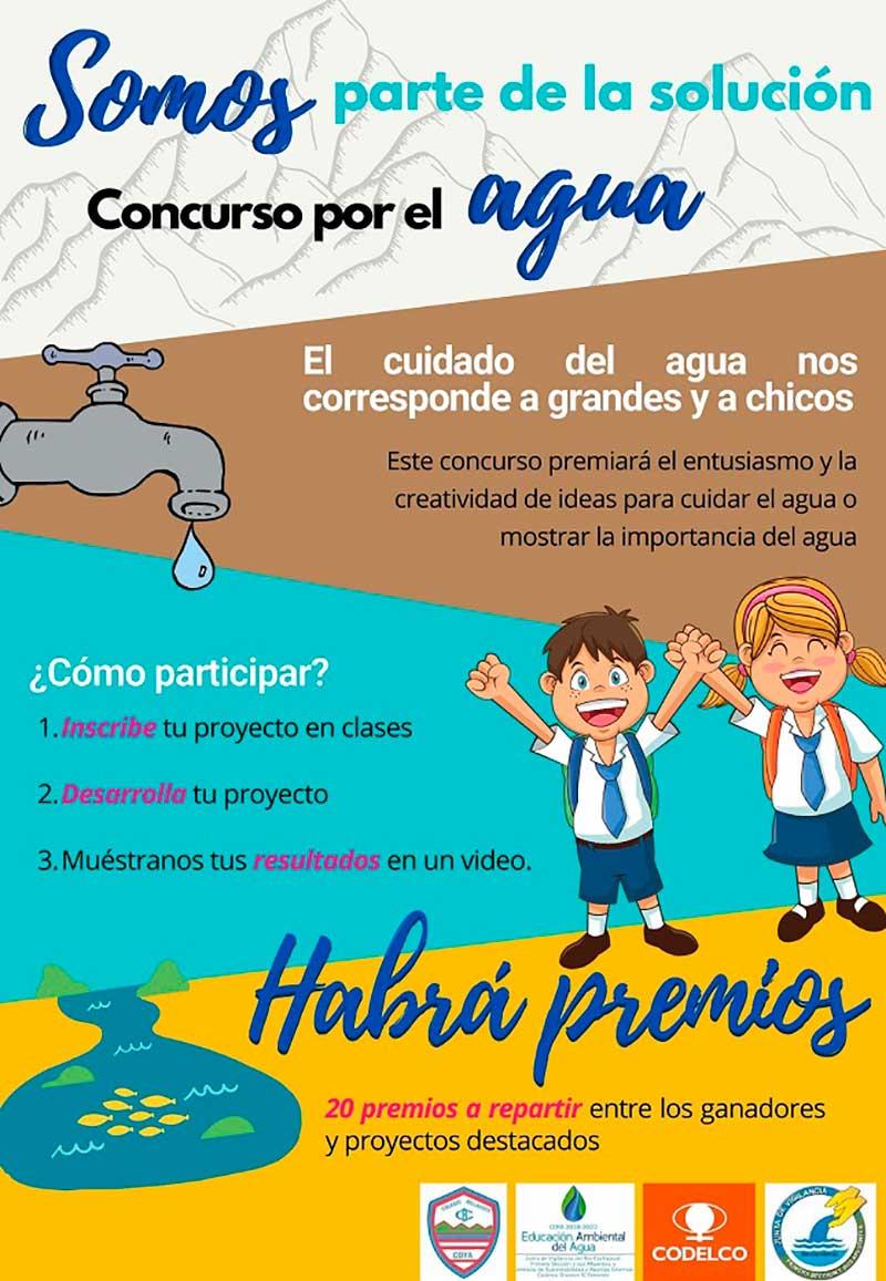 'Somos parte de la solución', lema de la campaña de cuidado del Agua en Coya