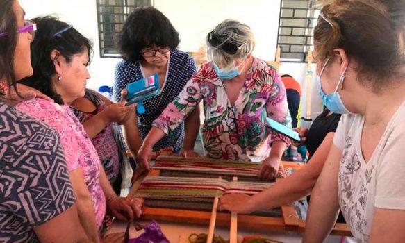 Witral Zomo Newen de Mostazal rescata la cultura ancestral mapuche con sus tejidos