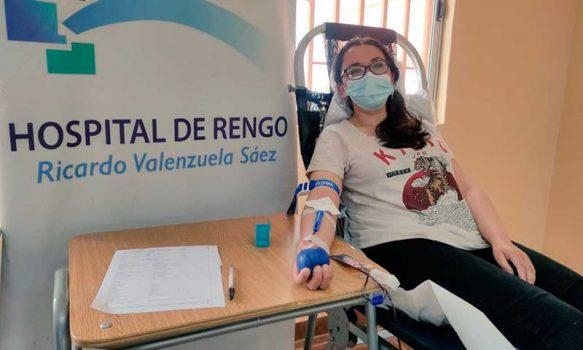 Hospital de Rengo efectúa colecta de sangre en Colegio Alcalde Pedro Urbina de Peumo
