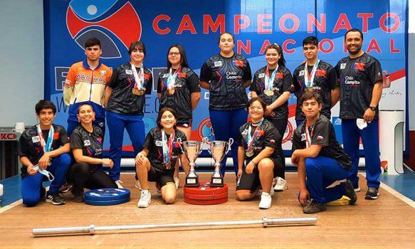 Lluvia de medallas para la Halterofilia regional en campeonato nacional