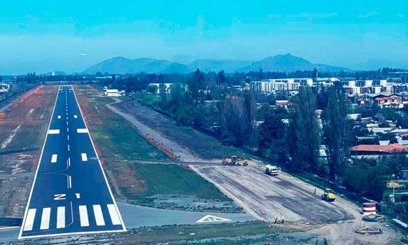 MOP O'Higgins construye plataforma de operaciones para emergencias en Aeródromo La Independencia de Rancagua