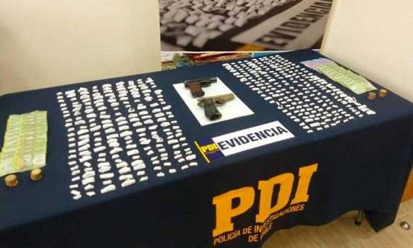PDI desbarató dos puntos de venta de droga en San Vicente