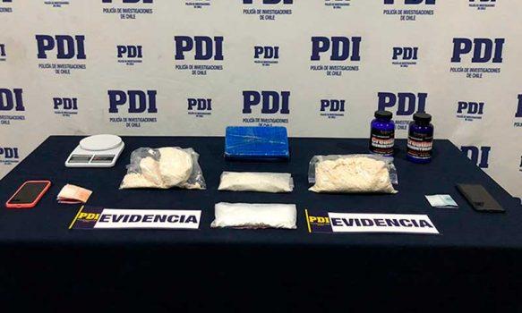 PDI detiene a dos personas tras allanamientos por droga en Rancagua y San Fernando