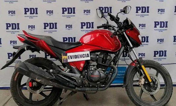 PDI recuperó en Rancagua moto que fue robada hace cinco meses en Codegua